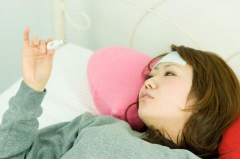 インフルエンザで熱が出ないようにする寝起き茶