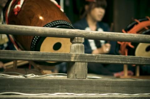 和太鼓を使ったインナーマッスルトレーニング